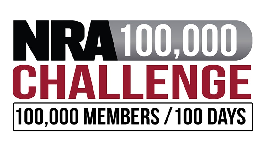 The NRA 100,000 Members in 100 Days Challenge logo